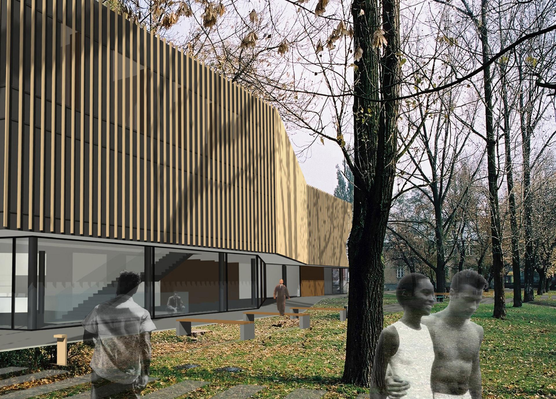 Dzielnicowe Centrum Promocji Kultury w Warszawie. Wyróżnienie w konkursie architektonicznym BAZA architekci.