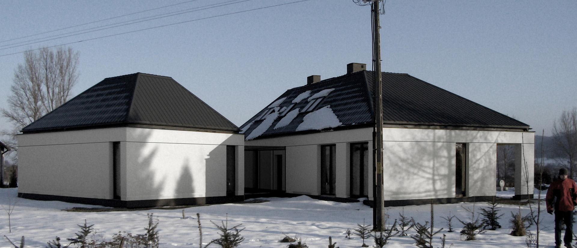 Dom jednorodzinny we Frysztaku.