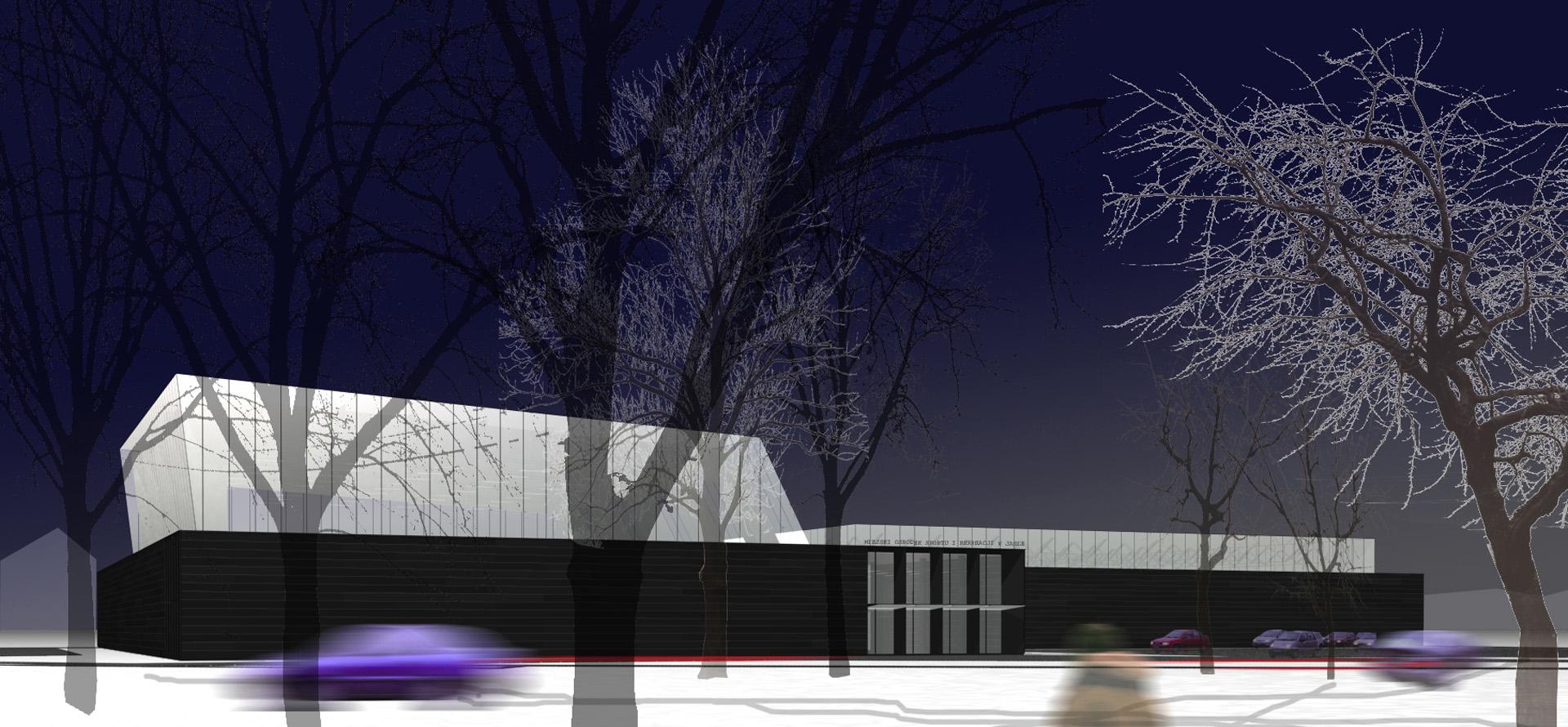 Miejski Ośrodek Sportu w Jaśle - pierwsza nagroda BAZA architekci