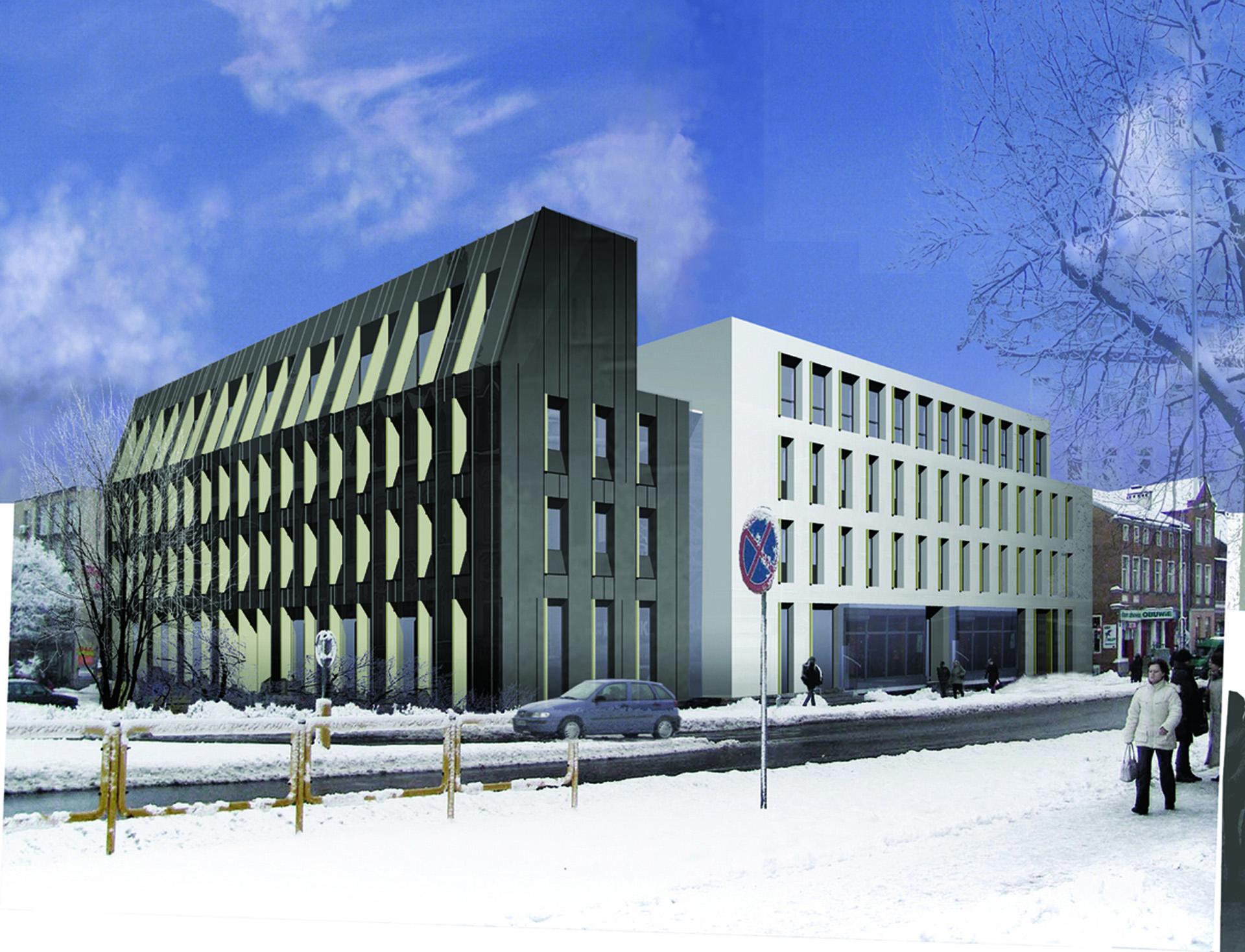 Starostwo Powiatowe w Olsztynie - wyróżnienie w konkursie BAZA architekci.