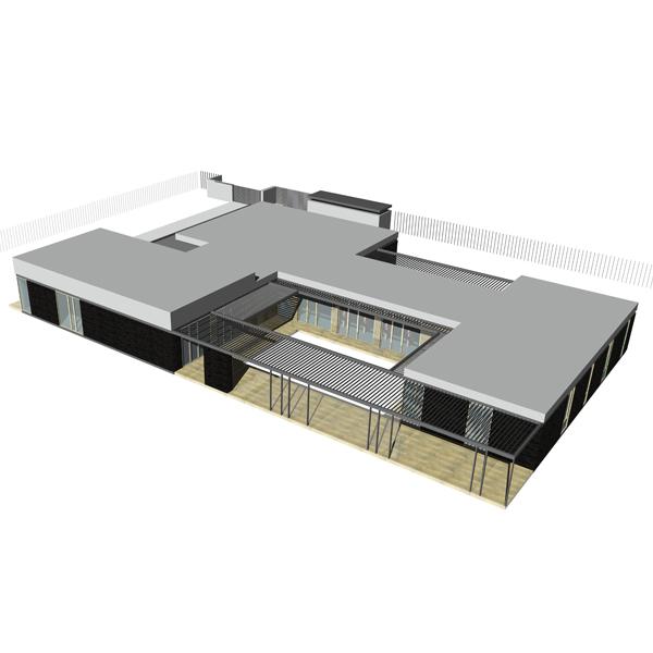 Projekt domu jednorodzinnego BAZA architekci.