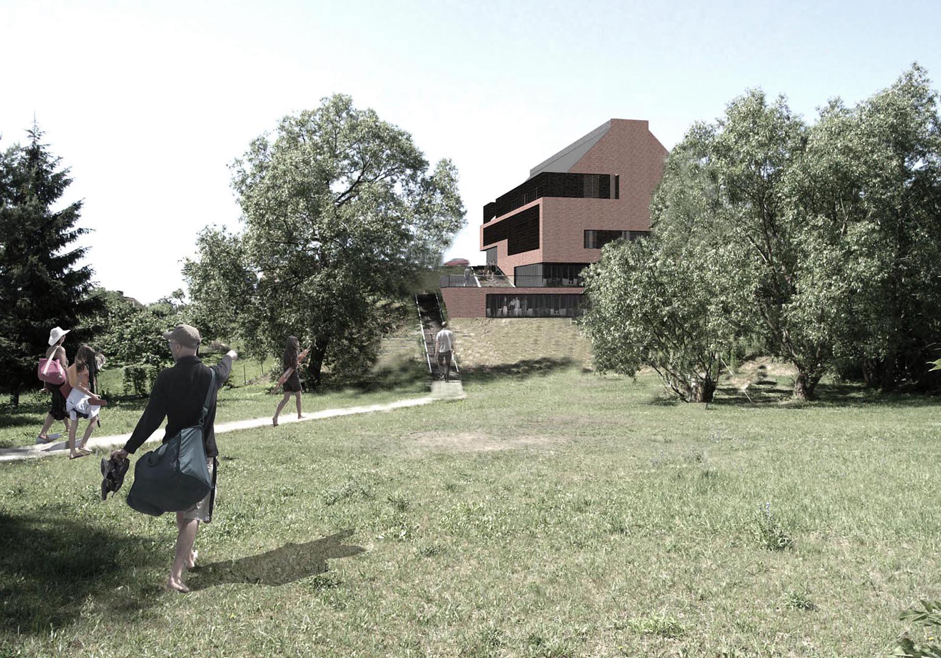 Hotel na Mazurach. Baza architekci.