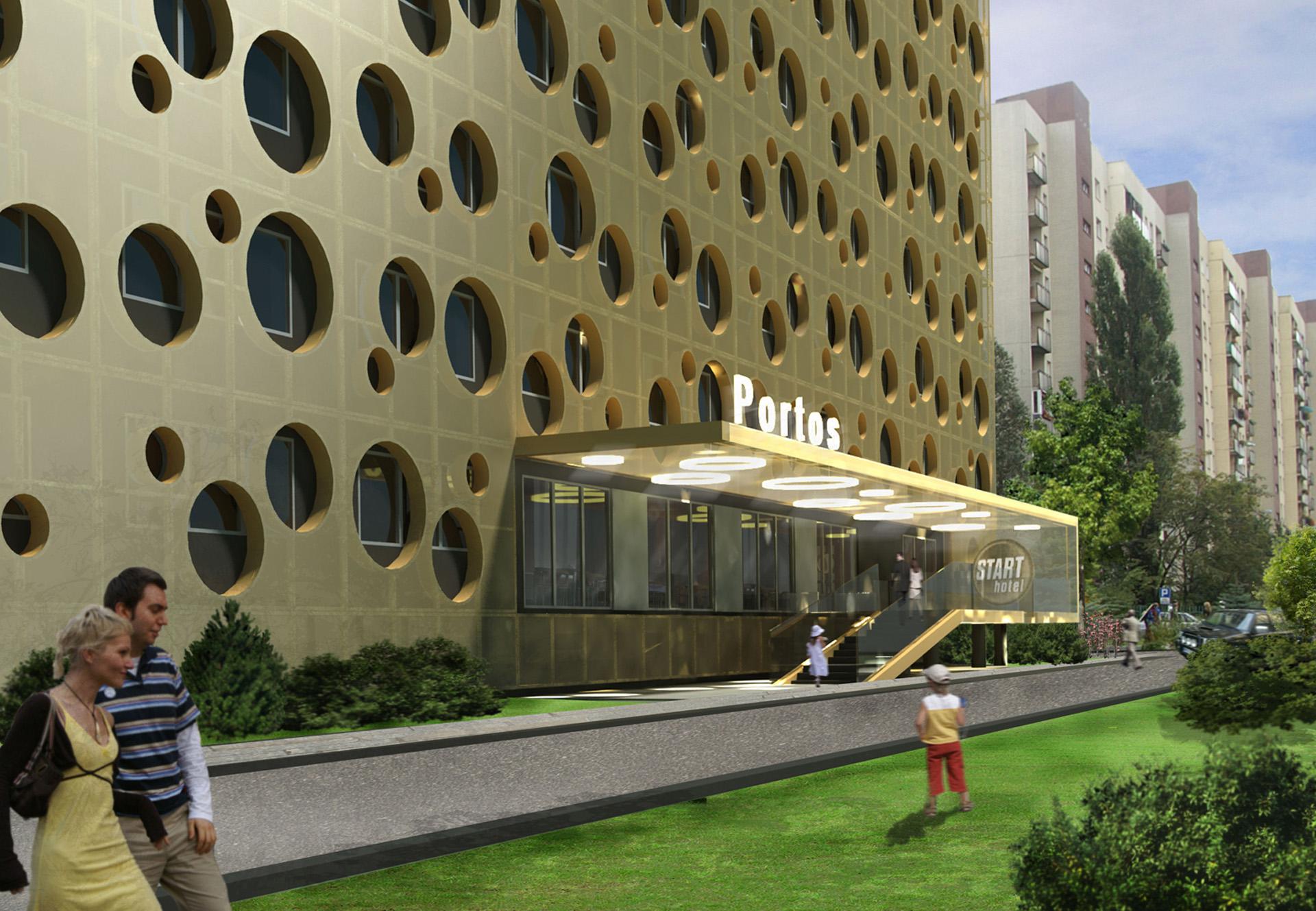 Projekt rewitalizacji hotelu przy ul. Sobieskiego - Baza Architekci.