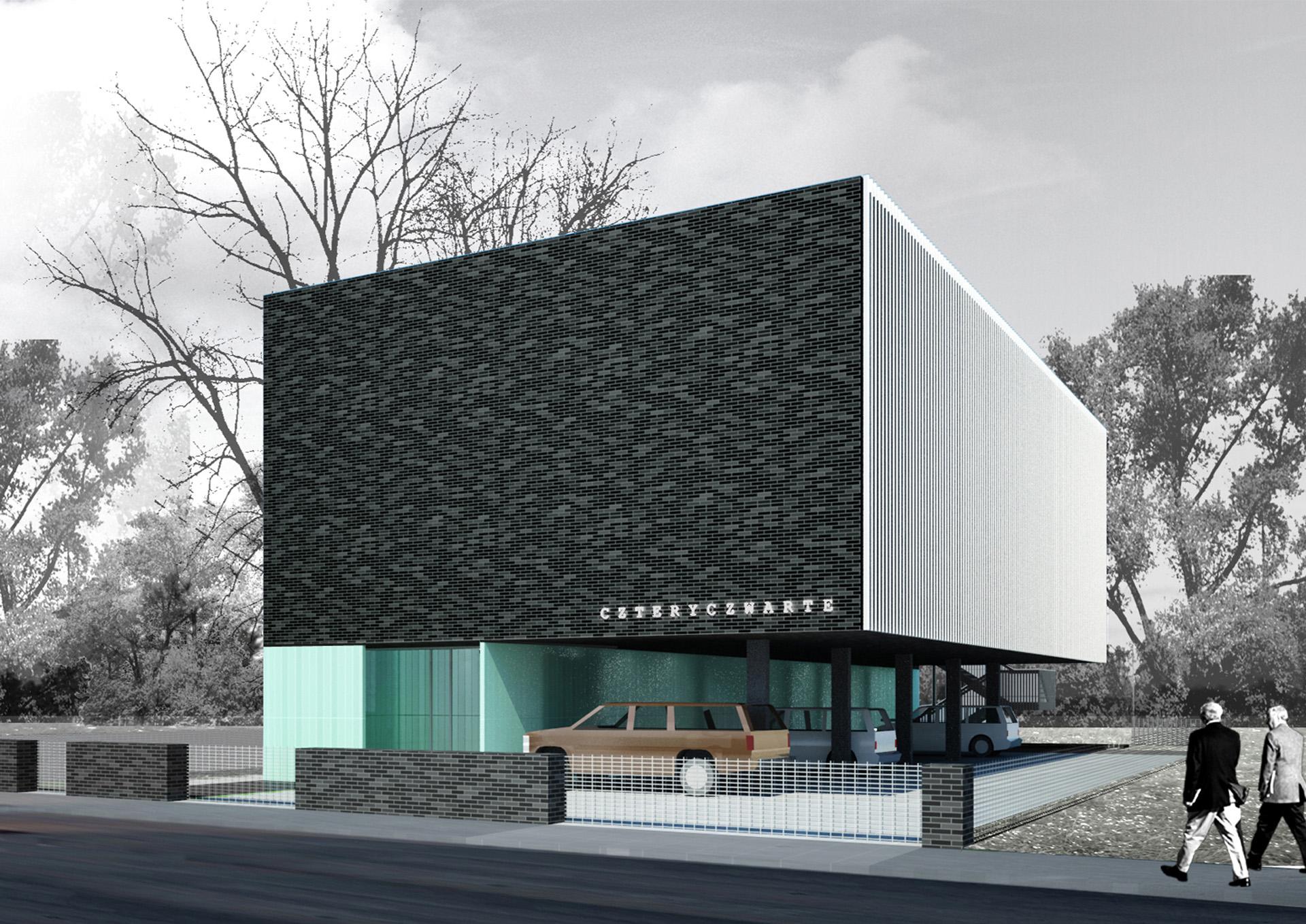 Budynek biurowy w Warszawie. Projekt biurowca BAZA architekci.