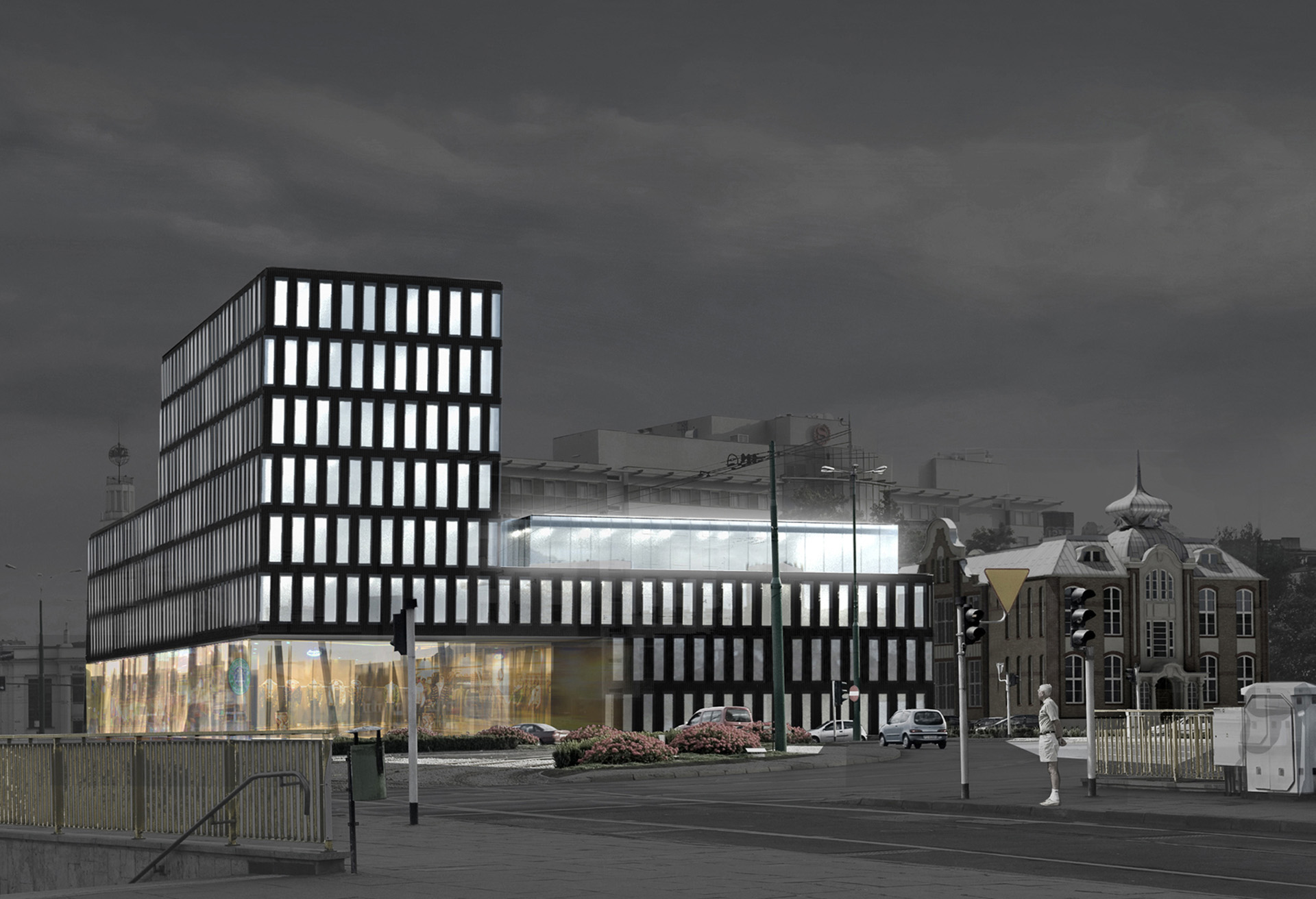 Budynek biurowy w Poznaniu. Projekt Baza Architekci.
