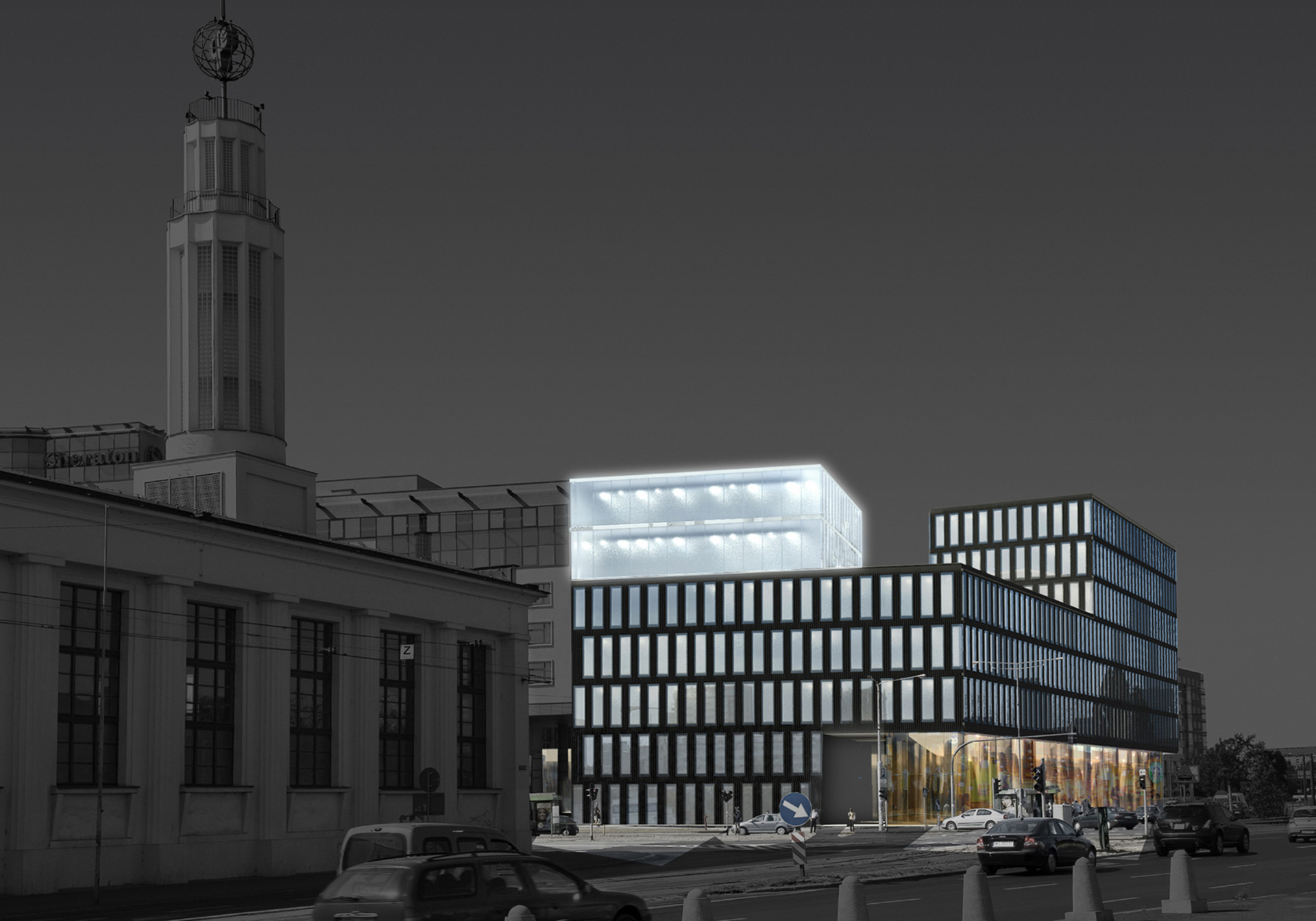 Budynek biurowy w Poznaniu. Projekt konkursowy Baza Architekci.