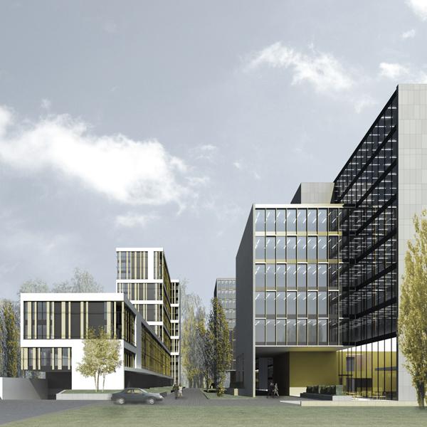 Zespół budynków wielorodzinnych przy ul. Woronicza w Warszawie. Projekt koncepcyjny BAZA architekci.