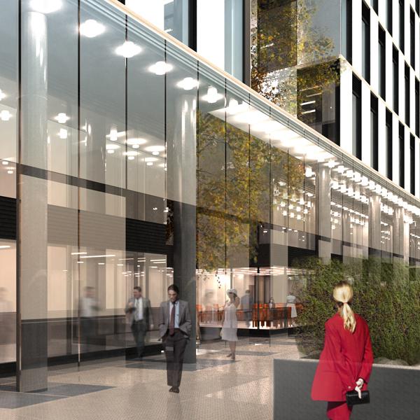 Budynek biurowy przy Al. Jerozolimskich w Warszawie. Projekt budynku biurowego BAZA architekci.