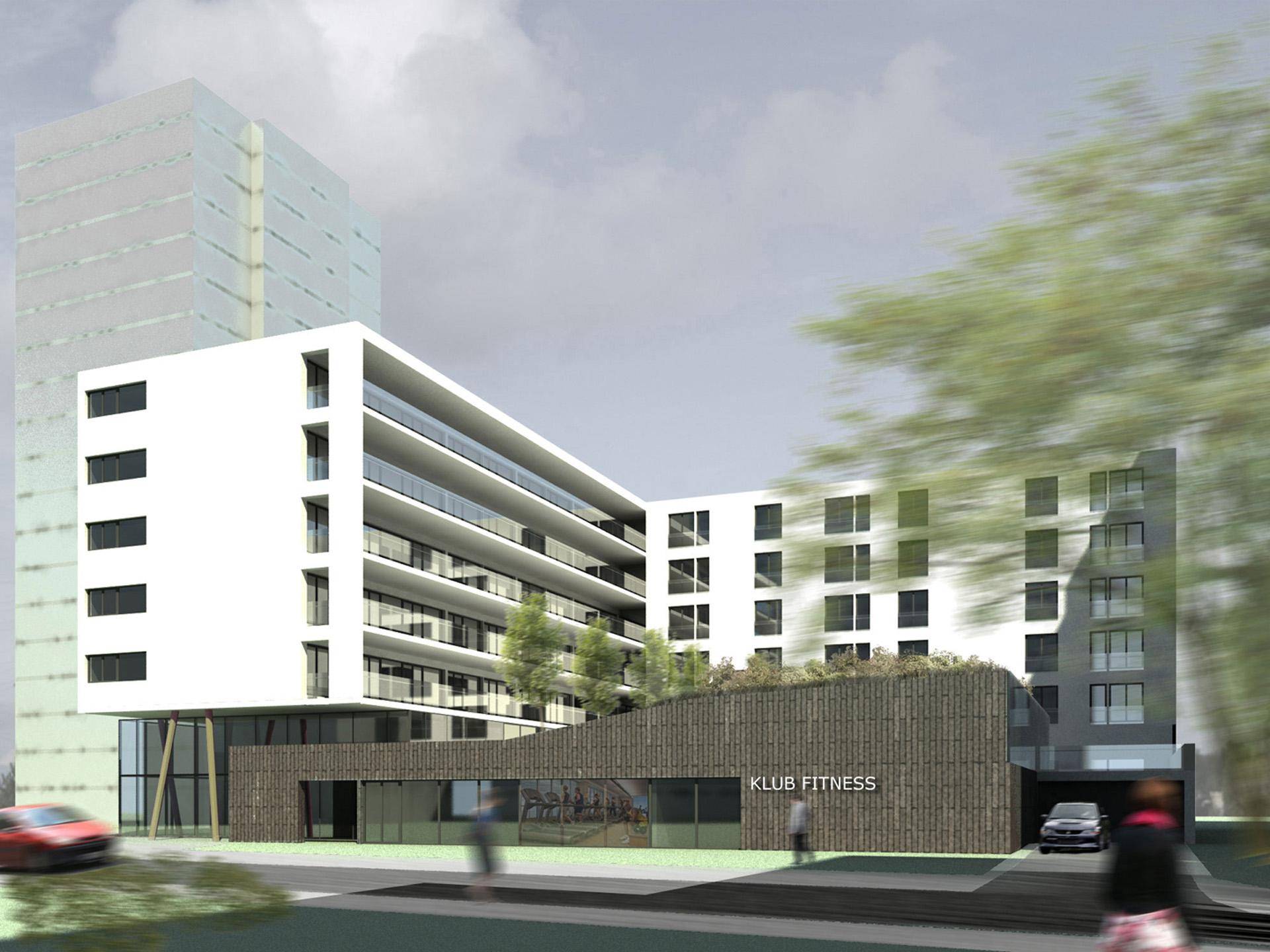 Budynek wielorodzinny przy ul. Bukowińskiej w Warszawie. Projekt budynku wielorodzinnego BAZA Architekci.