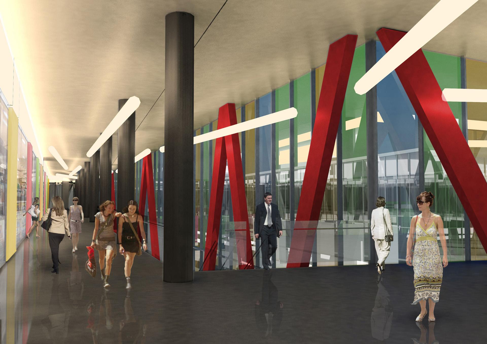 Centrum handlowe. Mińsk Mazowiecki. Projekt architektoniczny Baza Architekci.