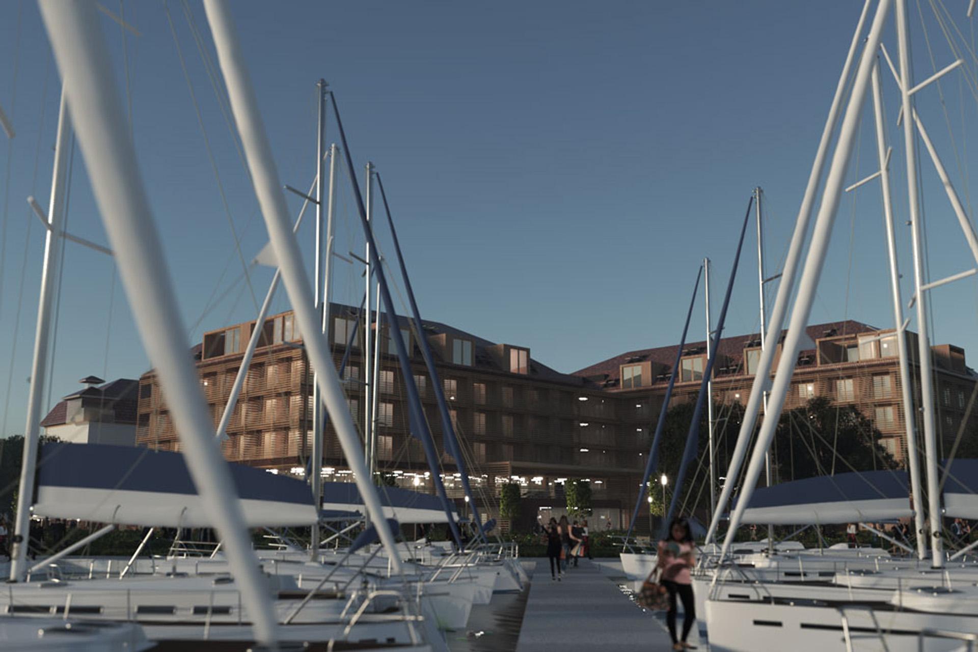 Hotel na Mazurach.Projekt hotelu BAZA architekci.