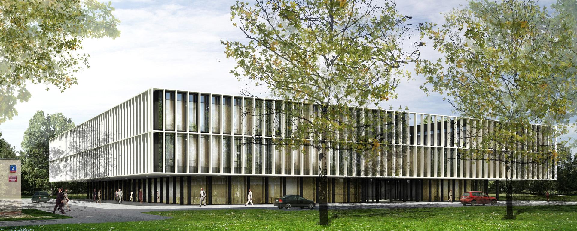 Siedziba firmy MPWiK w Warszawie. Projekt architektoniczny Baza architekci.