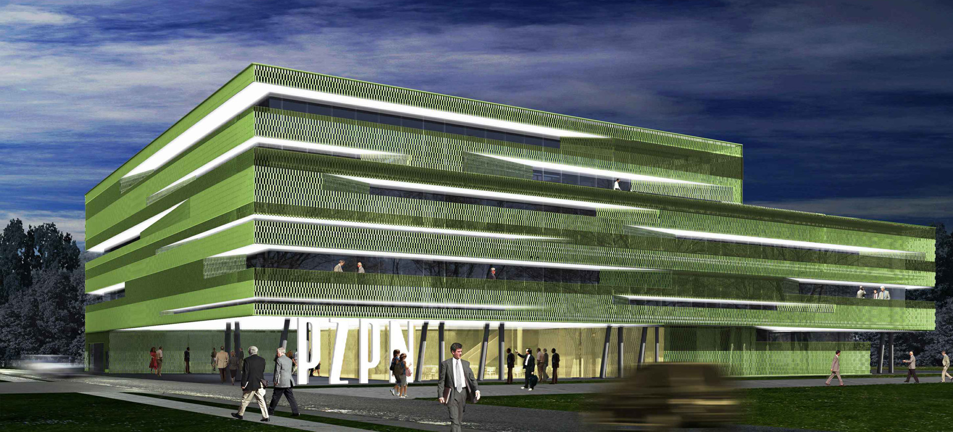 Budynek biurowy przy ul. Wilanowskiej w Warszawie. Projekt architektoniczny BAZA architekci.