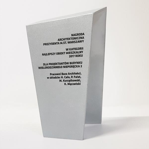 Nagroda Architektoniczna Prezydenta Miasta Warszawy najlepszy obiekt mieszkalny 2017 roku BAZA architekci Hubert Cała Piotr Fałat Michał Kurzątkowski Kasper Mączeński