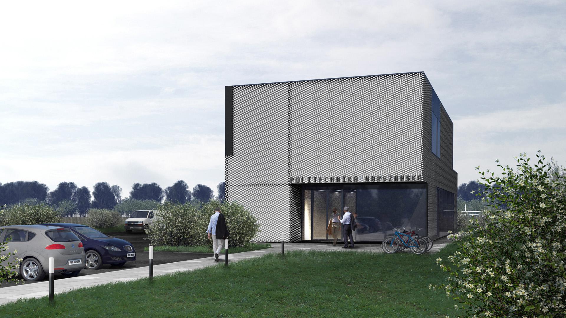 Budynek biurowy Politechniki Warszawskiej w Sierakowie. Projekt budynku biurowego BAZA architekci.